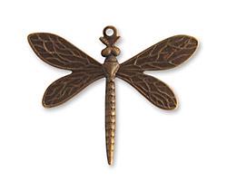 Vintaj Natural Brass Queen Dragonfly 35x30mm