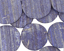 Lapis (matte) Flat Freeform Coin 43-53x40-55mm