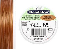 """Beadalon Satin Copper .015"""" 7 Strand Wire 30ft."""