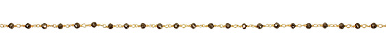 Pyrite Faceted Rondelle Gold (plated) Bead Chain