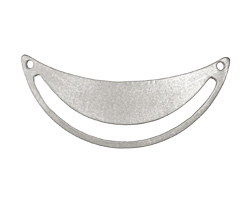Zola Elements Antique Silver (plated) Arc Cutout Focal Link 50x20mm