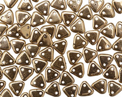 CzechMates Glass Bronze 2-Hole Triangle 6mm