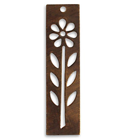 Vintaj Natural Brass Tall Flower Stencil 12x48mm
