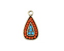 Zola Elements Antique Gold (plated) Beachy Teardrop Charm 11x22mm