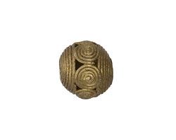 African Brass Spirals (large hole) Round 17-21mm