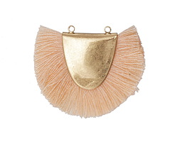 Zola Elements Matte Gold (plated) Apricot Fringed Focal Link 31x25-29mm