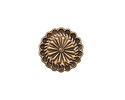 Zola Elements Antique Brass (plated) Aster Disc 7mm Flat Cord Slide 19mm