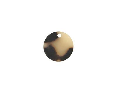 Zola Elements Light Tortoise Shell Matte Acetate Coin Charm 14mm