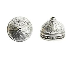 Nunn Design Antique Silver (plated) Ornate Tassel Cap 12x10mm