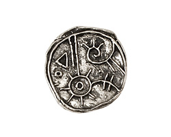 Green Girl Pewter Magic Button 21mm