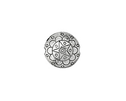 Antique Silver Finish Lone Star Puff Coin 17mm