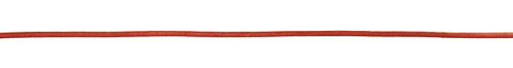 Natural Red Round Leather Cord 2mm