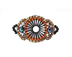 Desert Hand Woven Baroque Circle 30x18mm