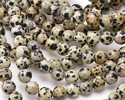 Dalmatian Jasper Round 8mm
