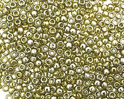 TOHO Gold Lustered Green Tea Round 8/0 Seed Bead