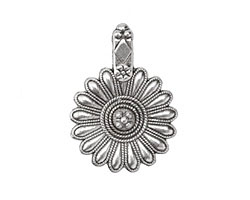 Zola Elements Antique Silver (plated) Fancy Daisy Focal 25x36mm