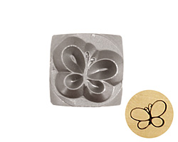 Butterfly Metal Stamp 6mm