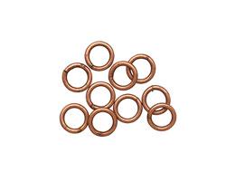 Antique Copper (plated) Soldered Jump Ring 6mm, 18 gauge