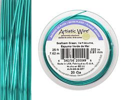 Artistic Wire Silver Plated Seafoam Green 20 gauge, 25 feet