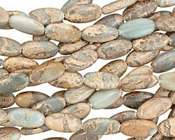 Impression Jasper Flat Slender Oval 18x9mm