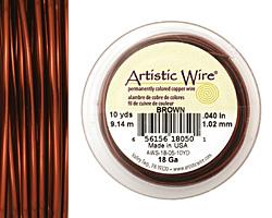 Artistic Wire Brown 18 gauge, 10 yards