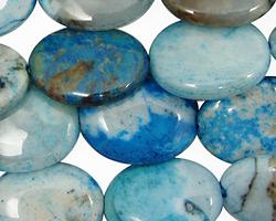 Brazil Blue Agate Flat Oval 20x15mm