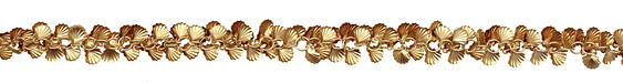 Satin Hamilton Gold (plated) Sea Shell Chain