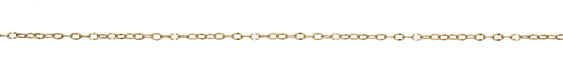 Satin Hamilton Gold (plated) Half Flat Delicate Cable Chain, 25ft Spool