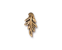 TierraCast Antique Gold (plated) Botanical Pinch Bail 11x16mm