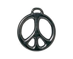 TierraCast Gunmetal Peace Pendant 24x27mm