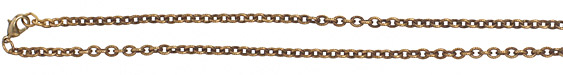 Vintaj Vogue Finished Petite Etched Cable Chain 18""