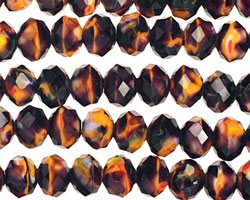 Campfire Crystal Faceted Rondelle 8mm