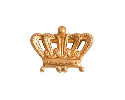 Nunn Design Brass Large Crown Embellishment 23x17mm