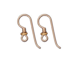 TierraCast Gold Filled Earwire w/ Coil & Heishi