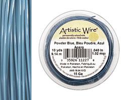 Artistic Wire Powder Blue 18 gauge, 10 yards