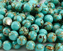 Sea Green Mosaic Shell Round 12mm
