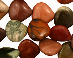 Imperial Jasper Flat Teardrop 15mm