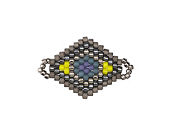 Goldfinch Hand Woven Diamond 25x17mm