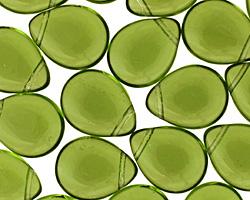 Czech Glass Olivine Teardrop 12x16mm