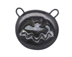 Gaea Ceramic Black Pearl Bat 2-Loop Pendant 26-28x24-26mm