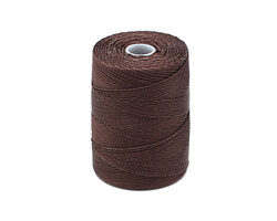 C-Lon Chocolate Fine Weight (.4mm) Bead Cord
