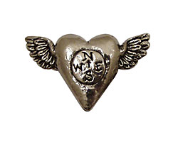 Green Girl Pewter Follow Heart 18x32mm