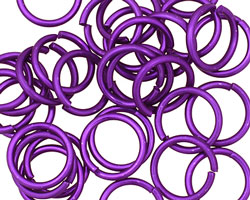Dark Purple Anodized Aluminum Jump 13mm, 16 gauge (10mm inside diameter)