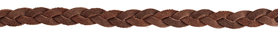 Red Brown Flat Braided Suede Leather 12mm