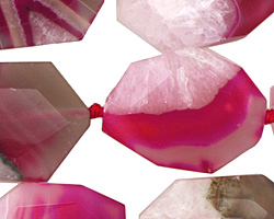 Ruby Line Agate Faceted Flat Slab 29-34x22-25mm