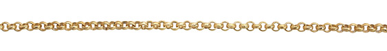 Satin Hamilton Gold (plated) Textured Rollo Chain