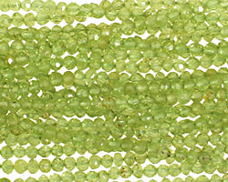 Peridot Irregular Faceted Rondelle 3-4mm