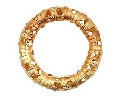 Brass Filigree Ring 40mm
