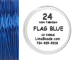 Parawire Flag Blue 24 Gauge, 10 Yards