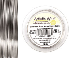 Artistic Wire Stainless Steel 24 gauge, 20 yards